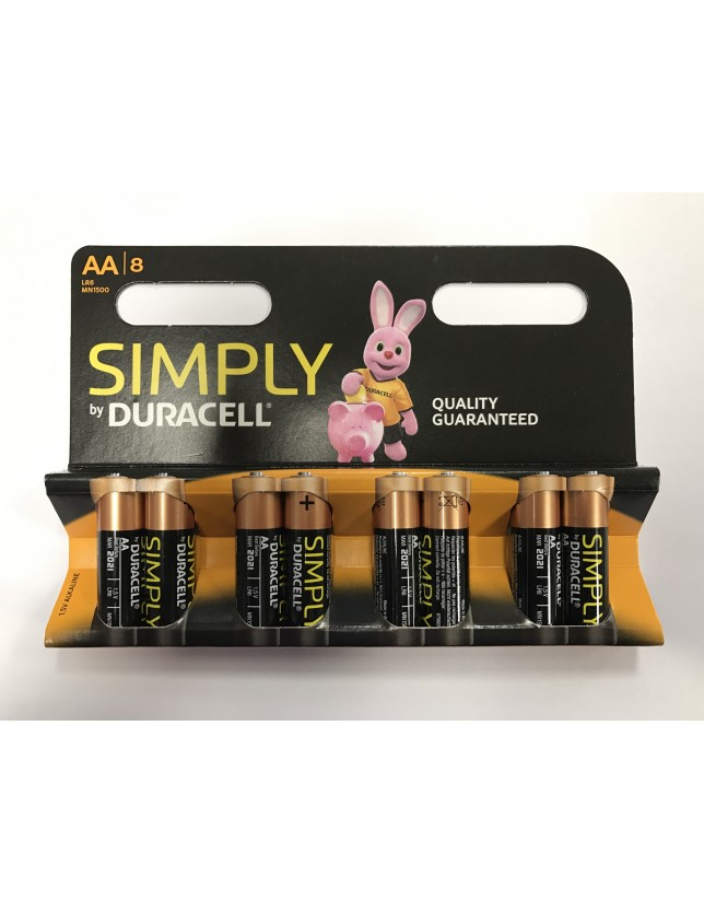 DURACELL SIMPLY STILO AA BLISTER 8PZ
