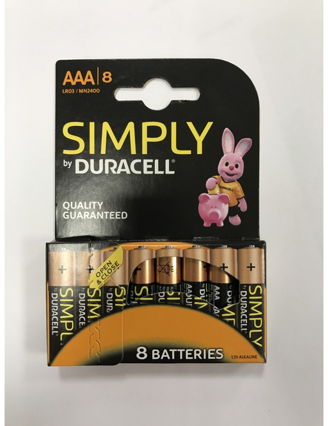 DURACELL SIMPLY MINISTILO AAA BLISTER 8PZ