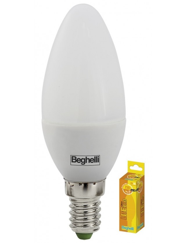 BEGHELLI LED OLIVA 3W E14